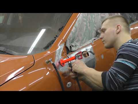 . Body repair after an accident.