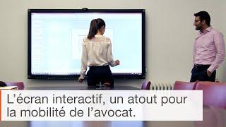 Témoignage sur l'utilisation de l'écran interactif en entreprise : le cabinet Claisse & Associés