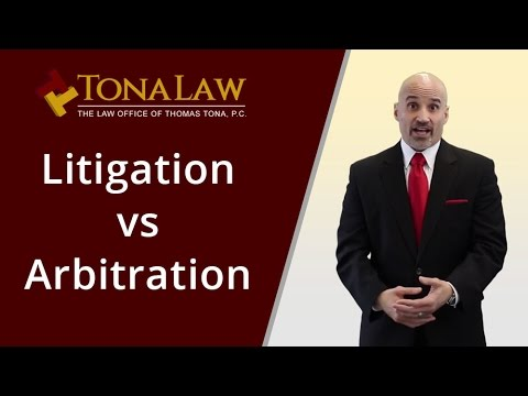 What is the difference between litigation and arbitration?