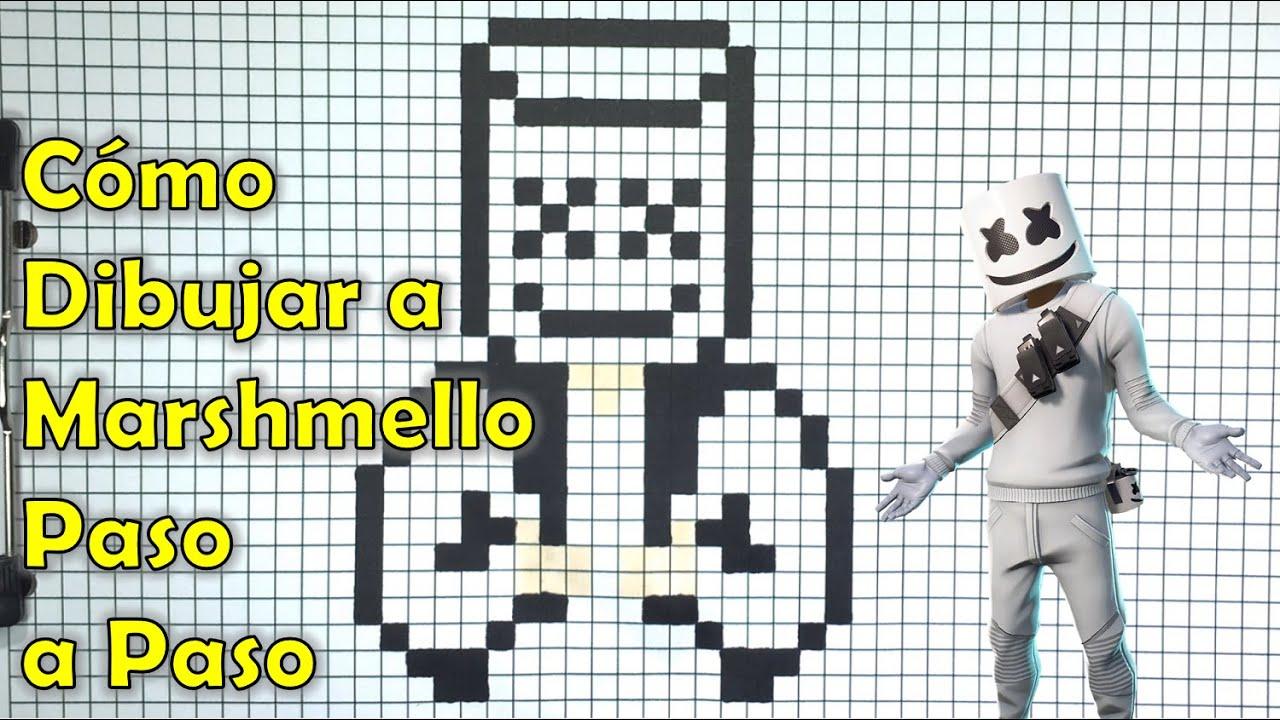 Cómo Dibujar A Marshmello Pixel Art Tutorial Paso A Paso