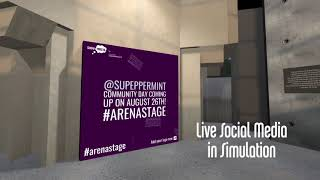 Resident Artist Patty Rangel presents the Virtual Arena Stage Simulation