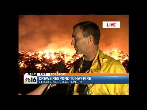 Breaking News Live coverage-Hay Fire in Junction City, Oregon