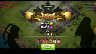 clash of clans balloon attack strategy th9 |gamelay|