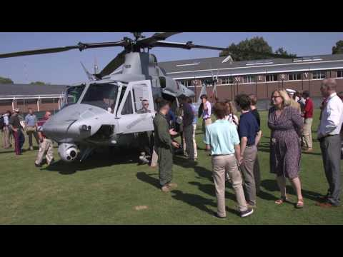 Marine Helicopter Lands at Montgomery Bell Academy