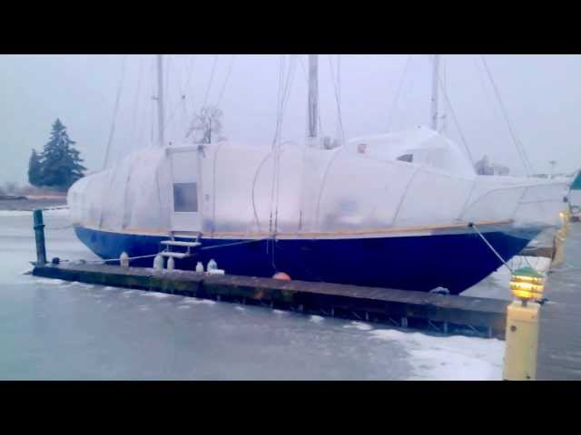 Living aboard Winter of 2013 Ice Storm
