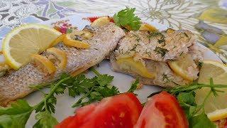 Рыба запечённая в духовке / Рецепт рыбы с лимоном  запечённой в рукаве в духовке