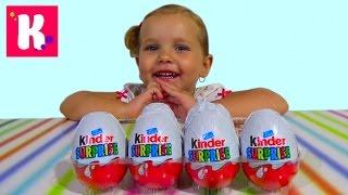 Киндер Сюрприз Пингвины распаковка игрушек Kinder Surprise eggs with toys unboxing