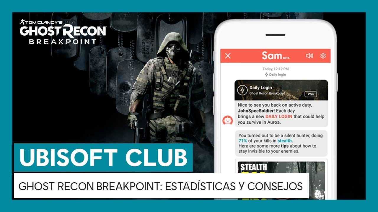 UBISOFT CLUB DAILY LOGIN: ¡Recibe estadísticas y consejos para Ghost Recon Breakpoint!