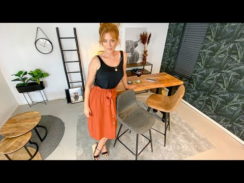 Industriële barkruk Susan cognac 72 cm