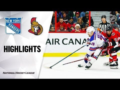 Rangers @ Senators 10/05/19 Highlights