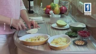 Груша, запеченная под сыром Моцарелла
