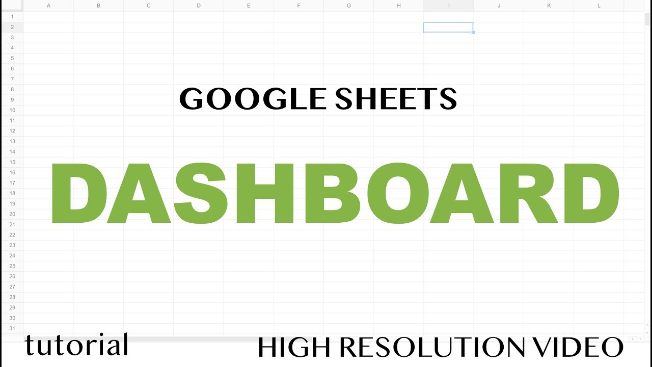 Google Sheets - Dashboard Tutorial - Dynamic QUERY Function String - Part 3