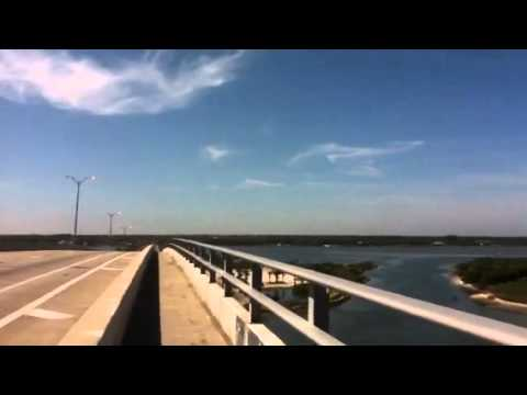 Walking over the Port Orange bridge