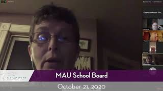 Mount Anthony Union High School District // 10/21/20