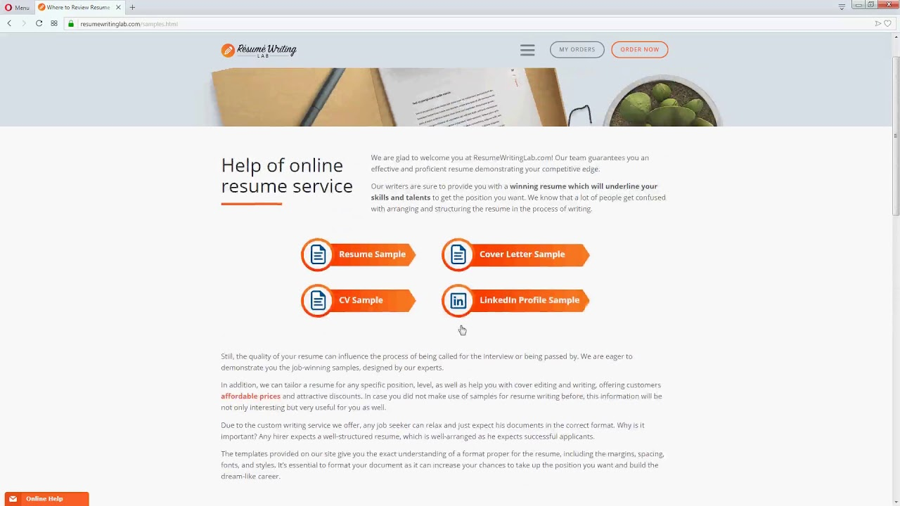 Benefits of resume writing services