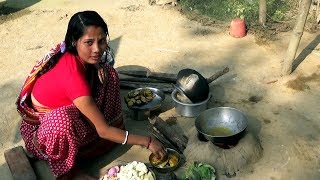Indian village cooking style