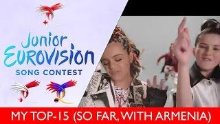Junior Eurovision 2016 - MY TOP-15 (so far, 28/10/2016)