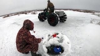 Расставили жерлицы в поле и вот что случилось!!! Зимняя рыбалка на жерлицы 2018-2019.