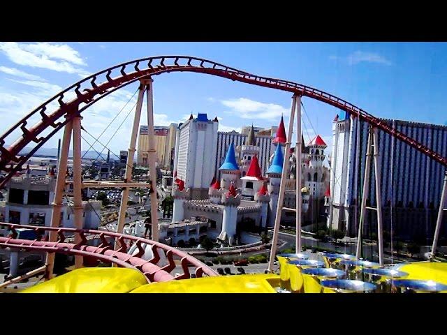Big Apple Coaster front seat on-ride HD POV New York, New York Hotel & Casino