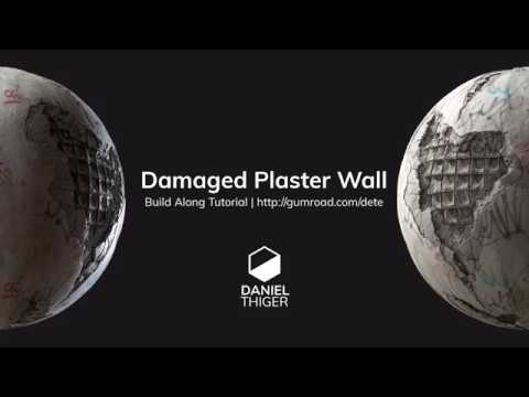 Damaged Plaster Wall Tutorial available on GumRoad