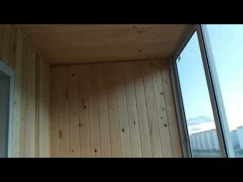 Обшивка лоджии без утепления.Матрешкин двор,Петухова 101/3