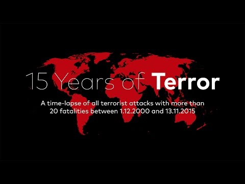 Map Visualizing 15 Years of Terror attacks