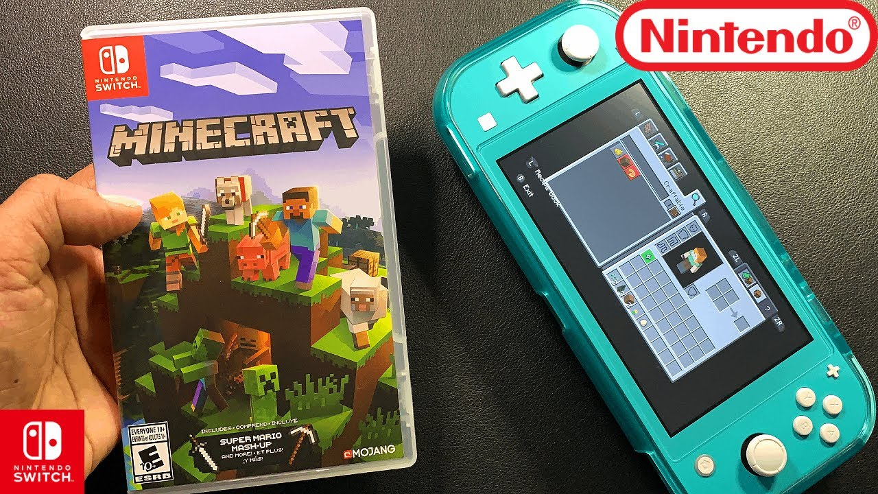 Minecraft   Unboxing and Gameplay   Nintendo Switch Lite   Black Friday Deal