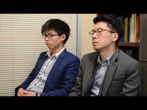 Joshua Wong and Nathan Law, Hong Kong Democracy Leading Student Activists