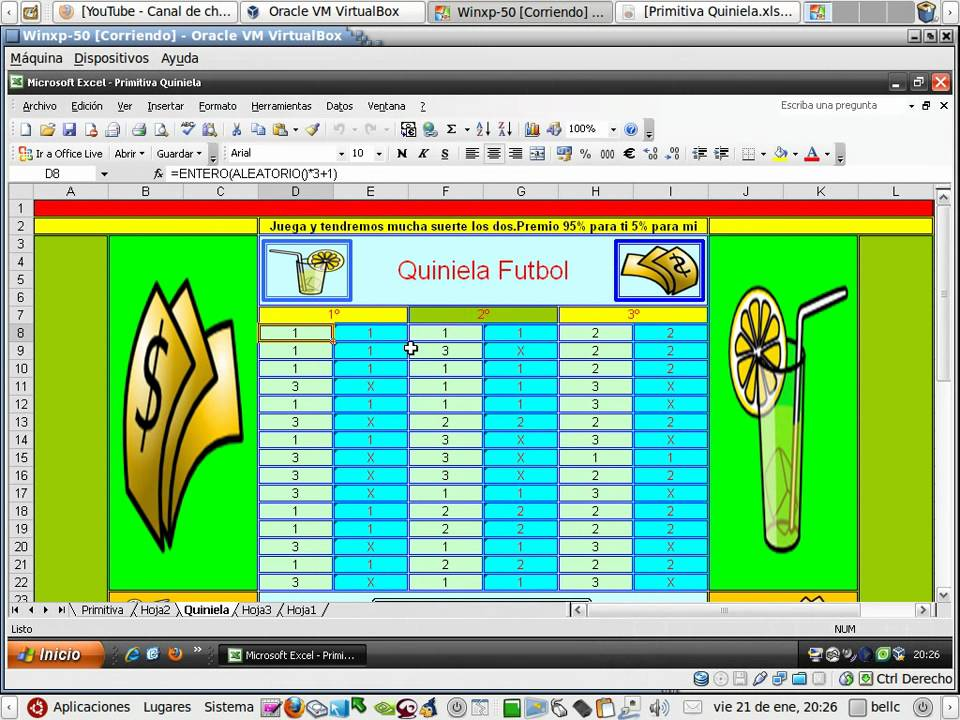 Quiniela de Fútbol 1 de 2 aprende OpenOffice, Hojas de cálculo ...