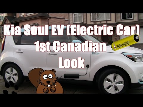 Kia Soul Electric EV Car 1st Canadian Look & Test Drive