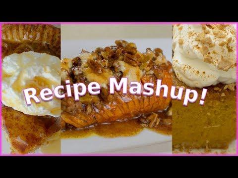 Recipe Mashup - Sweet Potato Pie, Candy Yams, Apple Pie - Thanksgiving Edition