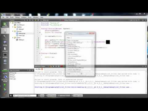 Qt QListWidget With Filter