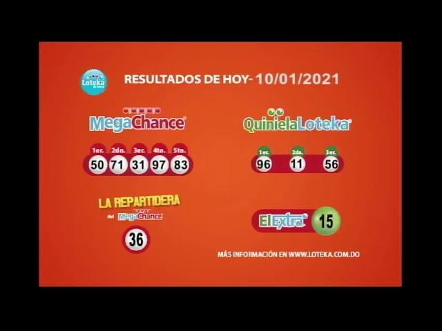 Loteka Lotería Electrónica Sorteo 11:00 AM 10-01-2021