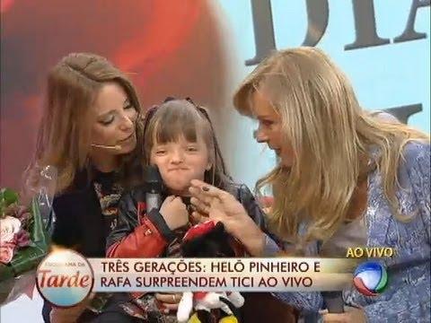 Helô Pinheiro E Rafinha Prestam Homenagem A Ticiane Pinheiro No Programa Da Tarde