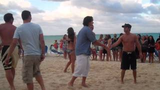 BSB Cruise 2011 Beach Party - Brian and Kevin's Volleyball Game pt 3