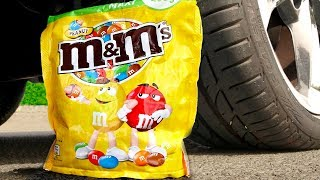 Crushing Crunchy & Soft Things by Car! - EXPERIMENT: M&M'S PACK VS CAR VS FOOD