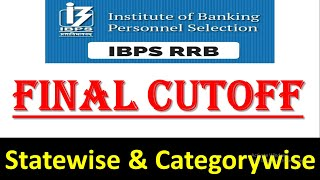 IBPS RRB VII FINAL CUTOFF || IBPS RRB PO/CLERK CUTOFF 2018 STATEWISE & CATEGORYWISE