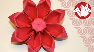 Repeat youtube video Origami Fleur: Gerbera - Flower Origami: Gerbera [Senbazuru]