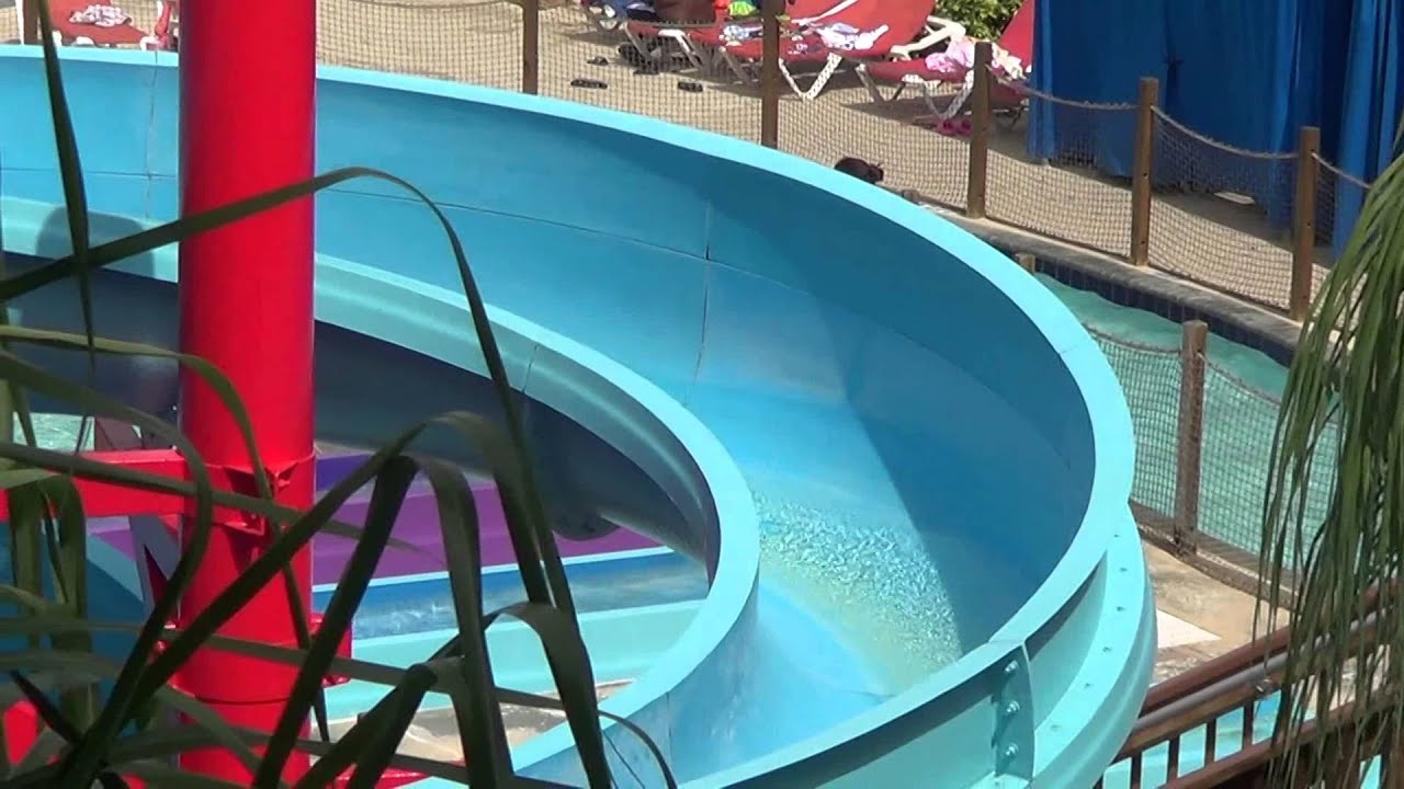 jaella going down water slide at flamingo waterpark resort. Black Bedroom Furniture Sets. Home Design Ideas