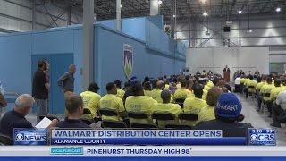 $100M NC وول مارت مركز توزيع يفتح ، وخلق وظائف 550