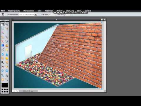 Урок №1:Делаем комнату в онлайн фотошопе.Аватария.