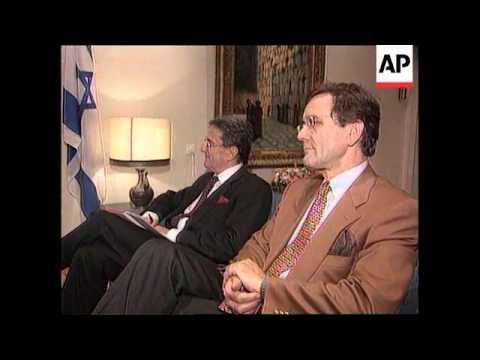 Israel - EC President Santer meets Ezer Weizman