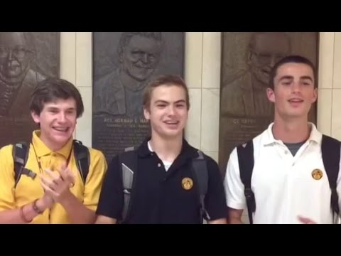 Singing The Loyola Academy Fight Song