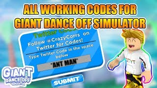 [ALL CODES]🕺Giant Dance Off Simulator All Codes | 500,000+ Coins | Roblox