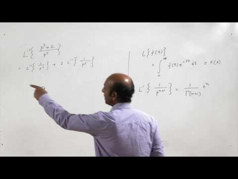 Lecture 24-Laplace transforms of some standard functions