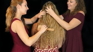 Pampering Madison  Part 2! Face & Hair Brushing, Braiding Corrina, Madison, Kristin