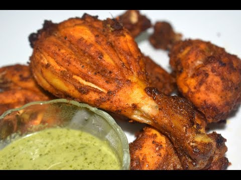 tandoori-chicken-in-otg-oven-style-and-green(mint)-chutney-|-homemade-tandoori-chicken-recipe-|