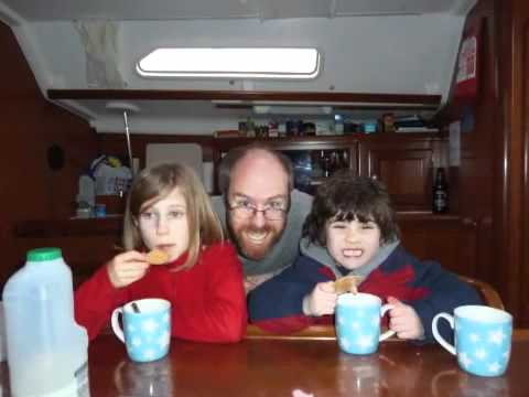 Sailing with kids on the Solent in February
