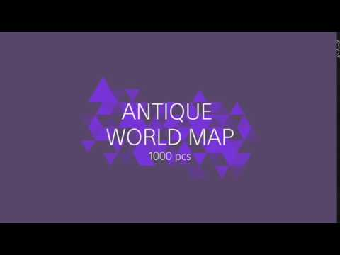 EDUCA ANTIQUE WORLD MAP PUZZLE 1000 PCS