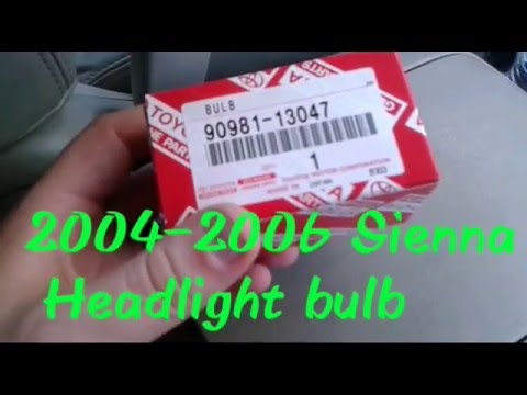 2004 2006 Sienna Headlight Bulb